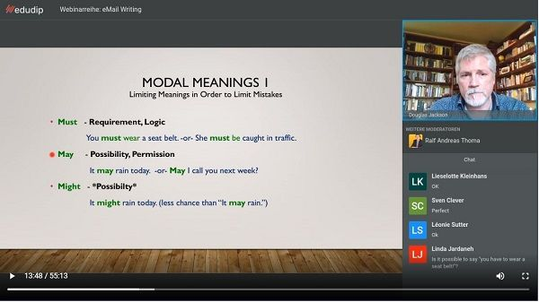 Modal verb meanings and usage