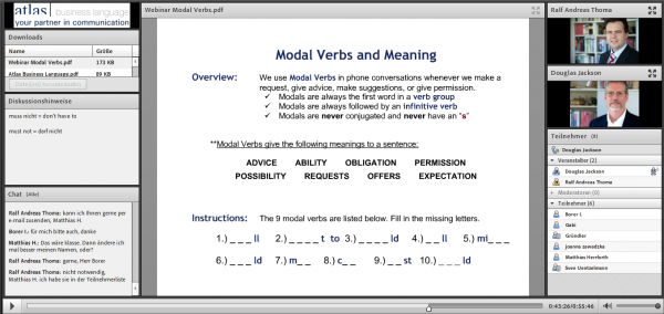webinar english modal verbs